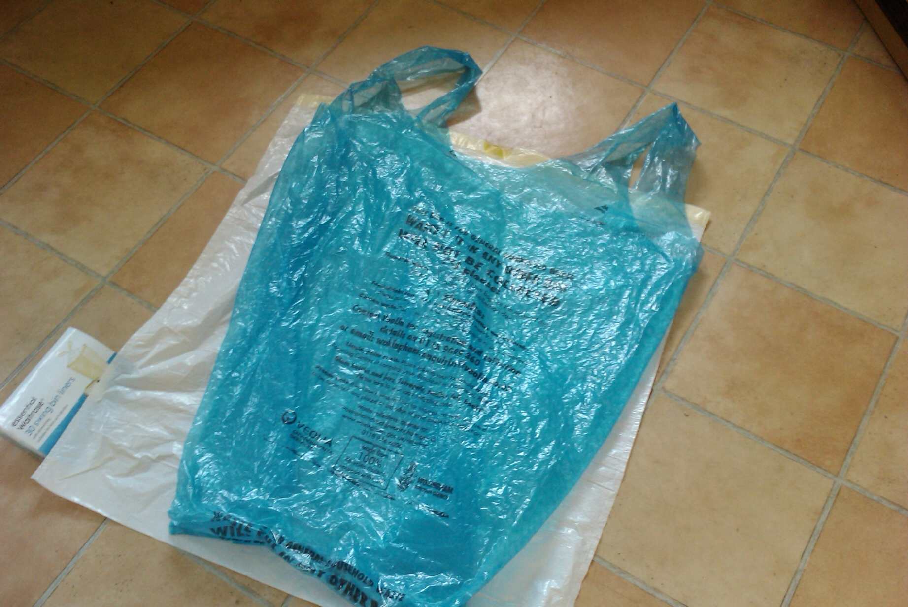 blue bag compared to my 60 litre bin bag i am going to be asking the ...